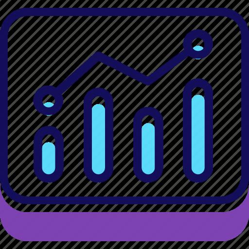 chart, graph, marketing, report, sales, statistics icon