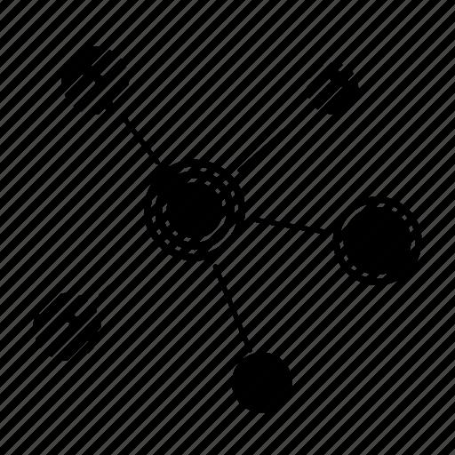 digital, internet, network, node icon