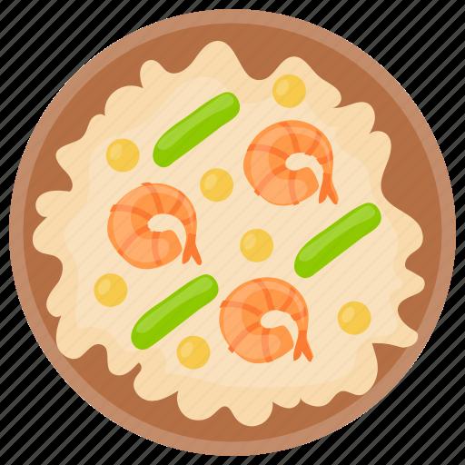 Cooked meal, dinner, dinner meal, omelette, shrimp omelette icon - Download on Iconfinder