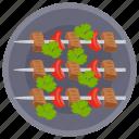 barbecue, dinner food, grilled food, skewer food, steamed food icon