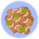 asian cuisine, beef stew, fred beef, grilled beef, pork stew icon