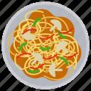 asparagus pasta, asparagus salad, chicken asparagus, chinese cuisine, noodles
