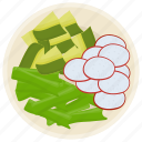 fresh salad, green salad, healthy diet, salad, vegetable salad icon