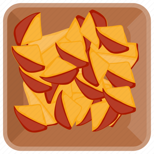 Fibre fruit, fruit bowl, fruits, peach, sliced peach icon - Download on Iconfinder