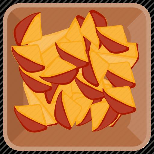 fibre fruit, fruit bowl, fruits, peach, sliced peach icon