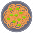 chinese noodles, italian cuisines, noodles, pasta, spaghetti icon