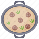 crust pizza, homemade pizza, italian cuisine, meatball pizza, pizza icon