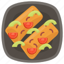 boneless fish, finger fish, fish fingers, fried fish, seafood icon