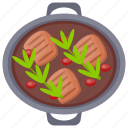 pork chops, pork curry, pork food, pork stew, stew icon