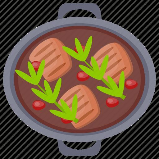 pork chops, pork curry, pork food, pork stew, stew icon