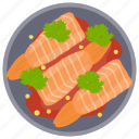 fish, raw fish, salmon, seafood, sushi icon
