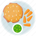 burger, fast food, fried food, junk food, snacks icon