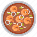 fishes, fried prawns, prawns, seafood, shrimps icon