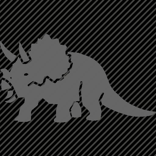dinosaur, horned, jurassic, triceratops icon