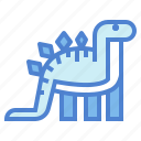 animals, extinct, herbivore, stegosaurus icon