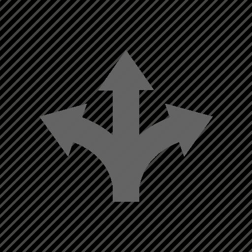 arrow, direction, turning, way icon