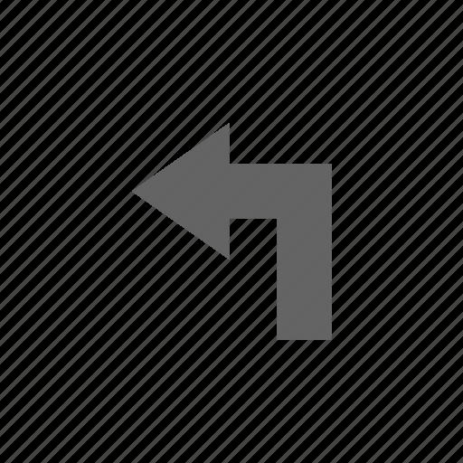 arrow, direction, turning icon