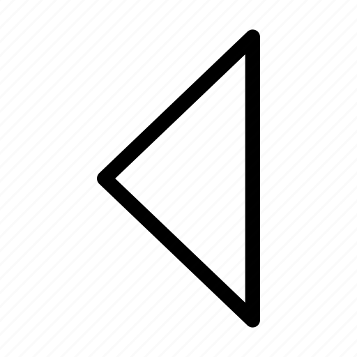 arrow, back, direction, left, side icon