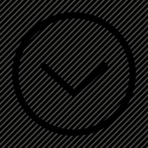 arrow, bottom, circle, direction, download icon