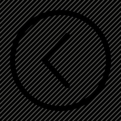 Circle, arrows, back, arrow, left icon