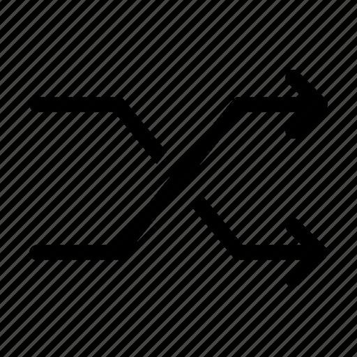 arrow, arrows, cross, next, side icon