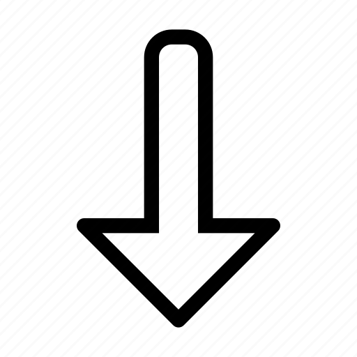 arrow, direction, down, download, side icon