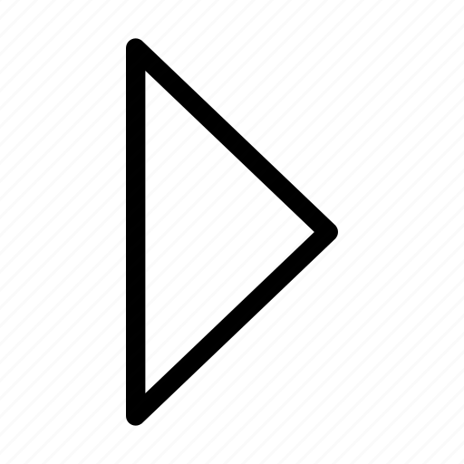 arrow, direction, next, play, right icon