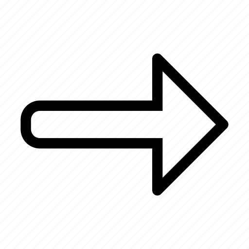 arrow, direction, next, right, side icon