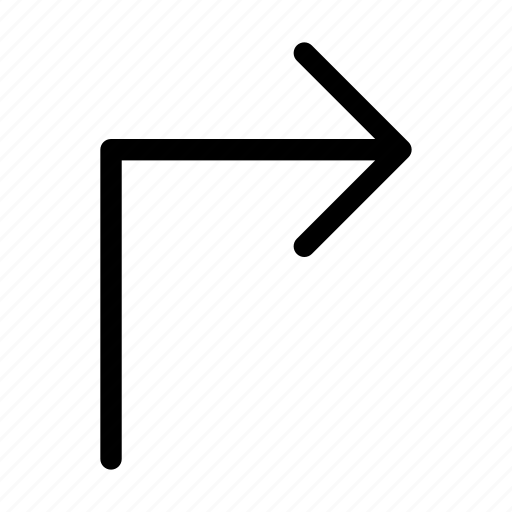 arrow, direction, next, right, turn icon