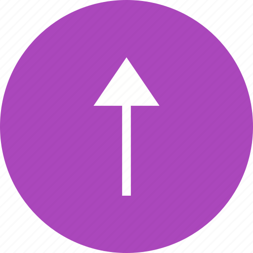 Arrow, direction, pointer, round, sign, up icon - Download on Iconfinder
