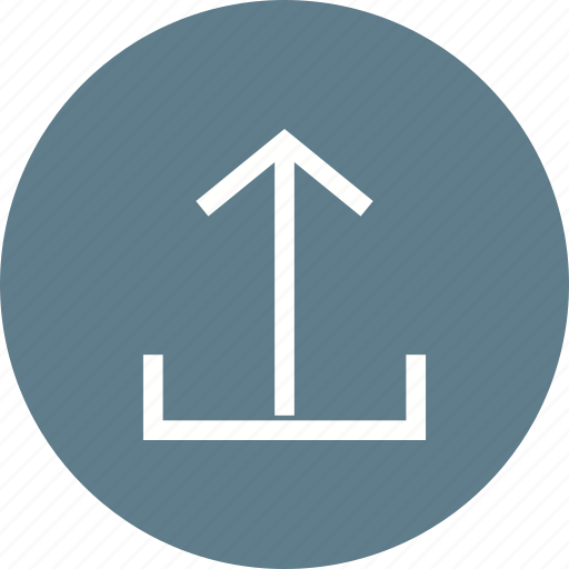 arrow, direction, down, internet, navigation, upload icon