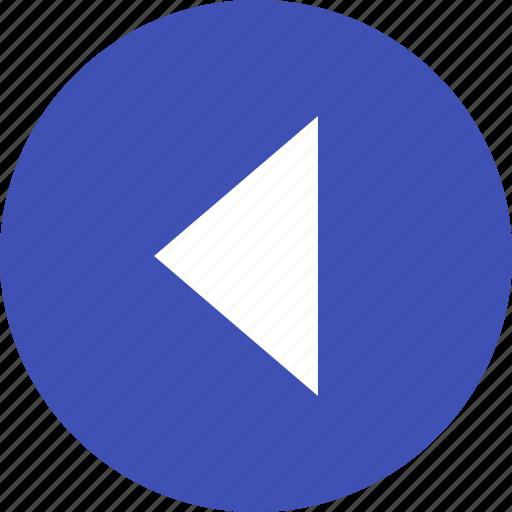 arrow, back, left, logo, square, triangle icon