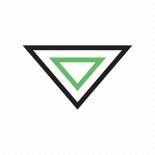 arrow, down, download, move, sign, triangle, website icon