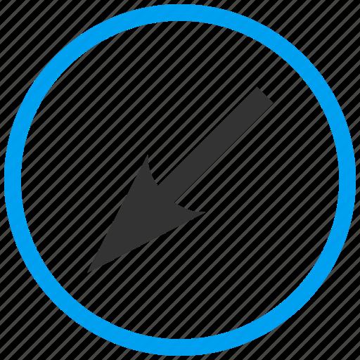 cursor, down arrow, left, move, navigate, navigation, pointer icon