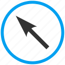 compass arrow, cursor, move, navigate, navigation, pointer, up left icon
