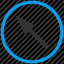 compass arrow, cursor, move, navigate, navigation, pointer, up left icon