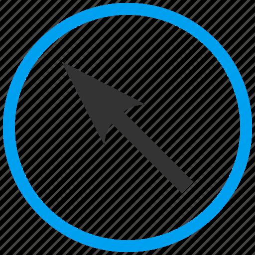 Compass arrow, cursor, move, navigate, navigation, pointer, up left icon - Download on Iconfinder