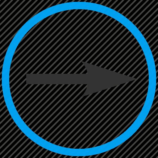 compass arrow, cursor, move, navigate, navigation, pointer, right icon