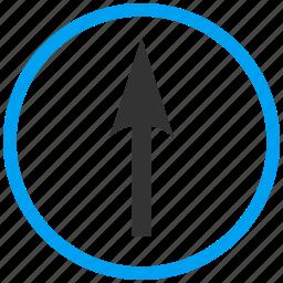 compass arrow, cursor, move, navigate, navigation, pointer, up icon