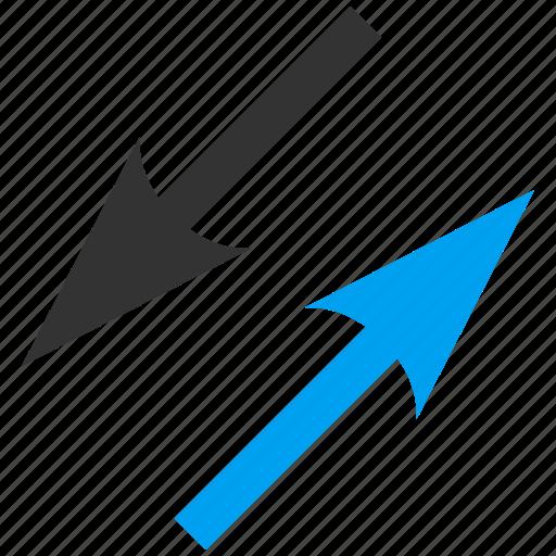 change, diagonal, exchange, flip flop, replace, swap, sync arrows icon