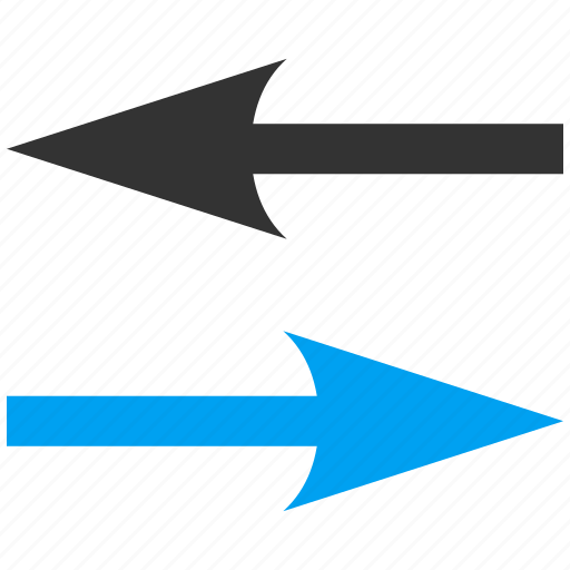 change, exchange, horizontal, horizontally, mirror, replace, swap arrows icon