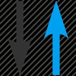 arrows, exchange, refresh, replace, swap, update, vertical icon