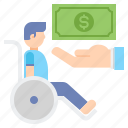 allowance, disability, wheelchair icon