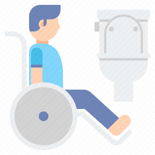 bathroom, disabled, toilet icon