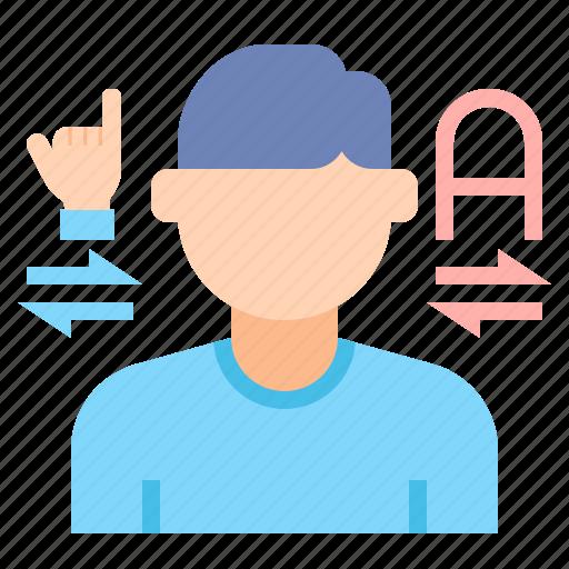 disability, interpreter, language icon