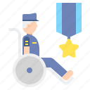 disability, in, veteran, wheelchair