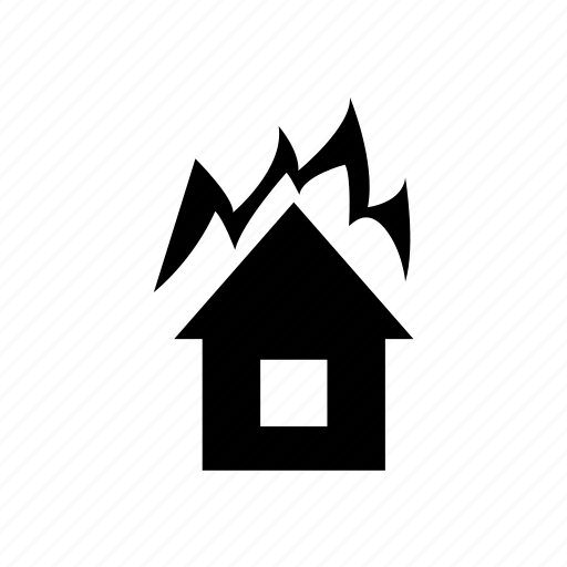 burn, disaster, fire, insurance icon icon