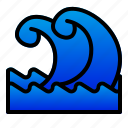 catastrophe, disaster, nature, sea, tsunami, wave icon