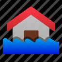 destruction, disaster, ecology, flood, home, nature, water