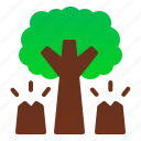 danger, deforestation, disaster, environtment, forest, nature, tree icon
